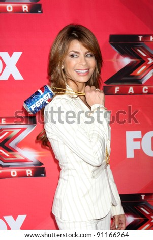 "LOS ANGELES - DEC 19:  Paula Abdul at the FOX's ""The X Factor"" Press Conference  at CBS Studios on December 19, 2011 in Los Angeles, CA"