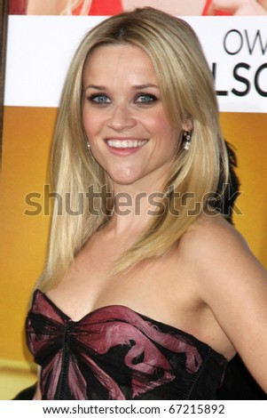 LOS ANGELES - DEC 13:  Reese Witherspoon at Heather Tom's Annual Christmas Party 2010 at Village Theater on December 13, 2010 in Westwood, CA. - stock photo