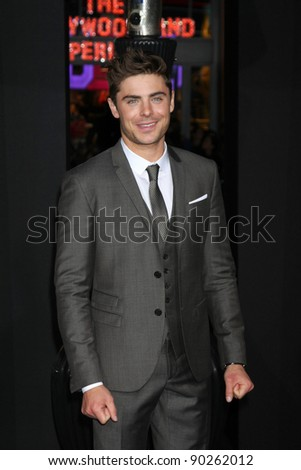 "LOS ANGELES - DEC 5:  Zac Efron arrives at the ""New Year's Eve"" World Premiere at Graumans Chinese Theater on December 5, 2011 in Los Angeles, CA"