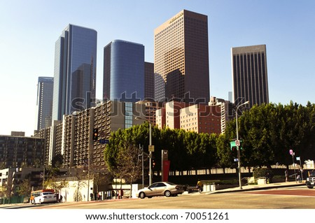 Los Angeles downtown on a sunny day