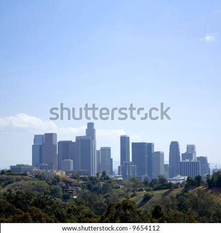 Los Angeles Downtown Skyline Panoramic