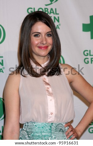 LOS ANGELES - FEB 22:  Alison Brie arrives at Global Green USA's Pre-Oscar Party at the Avalon on February 22, 2012 in Los Angeles, CA.