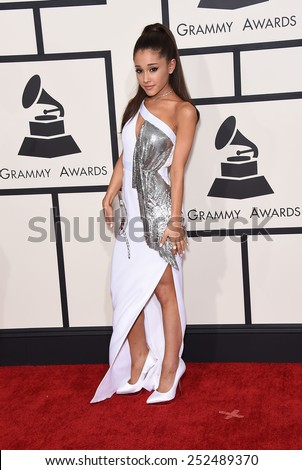 LOS ANGELES FEB 08 Ariana Grande arrives to the Grammy Awards 2015 on February 8 2015 in Los Angeles CA