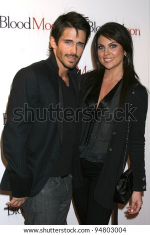 """LOS ANGELES - FEB 9:  Brandon Beemer, Nadia Bjorlin arrives at the """"Blood Moon"""" Screening at Sony Pictures Studio on February 9, 2012 in Culver City, CA"""