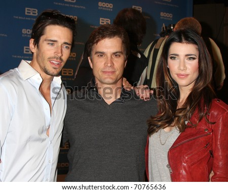 LOS ANGELES - FEB 7: Brandon Beemer, Rick Hearst, Jacqueline MacInnes