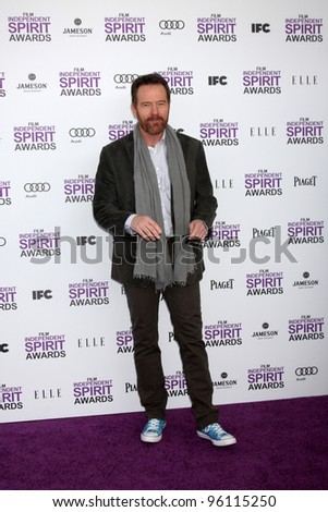 LOS ANGELES - FEB 25:  Bryan Cranston arrives at the 2012 Film Independent Spirit Awards at the Beach on February 25, 2012 in Santa Monica, CA