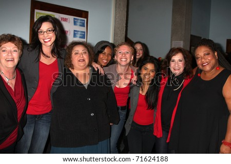 LOS ANGELES - FEB 18: Cast Members at the VDay - Vagaina Monologues ...