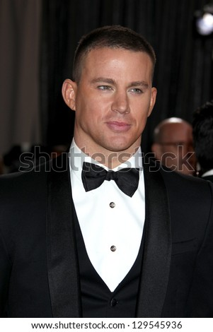LOS ANGELES - FEB 24:  Channing Tatum arrives at the 85th Academy Awards presenting the Oscars at the Dolby Theater on February 24, 2013 in Los Angeles, CA