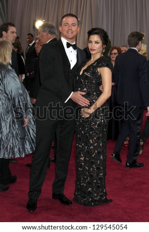 LOS ANGELES - FEB 24:  Channing Tatum, Jenna Dewan-Tatum arrive at the 85th Academy Awards presenting the Oscars at the Dolby Theater on February 24, 2013 in Los Angeles, CA
