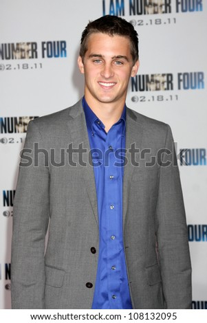 "LOS ANGELES - FEB 9:  Cody Johns arrives at the ""I Am Number Four"" Premiere at Village Theater on February 9, 2011 in Westwood, CA"