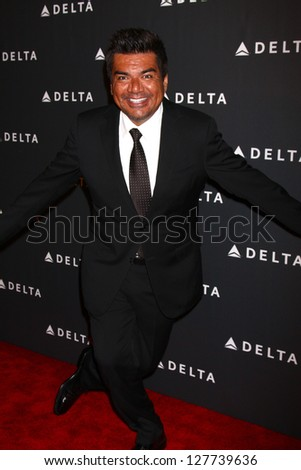 LOS ANGELES - FEB 7:  George Lopez arrives at the Celebration of LA's Music Industry reception at the Getty House on February 7, 2013 in Los Angeles, CA