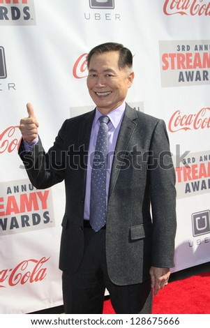 LOS ANGELES - FEB 17: George Takei at the 3rd Annual Streamy Awards at the Hollywood Palladium on February 17, 2013 in Los Angeles, California