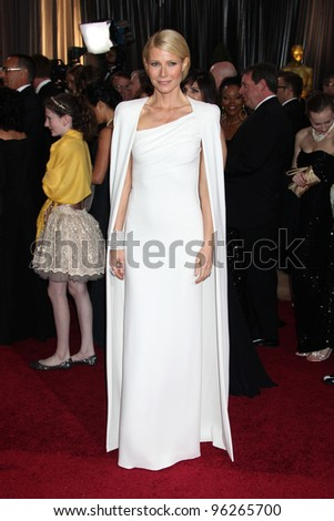 LOS ANGELES - FEB 26:  Gwyneth Paltrow arrives at the 84th Academy Awards at the Hollywood & Highland Center on February 26, 2012 in Los Angeles, CA. - stock photo