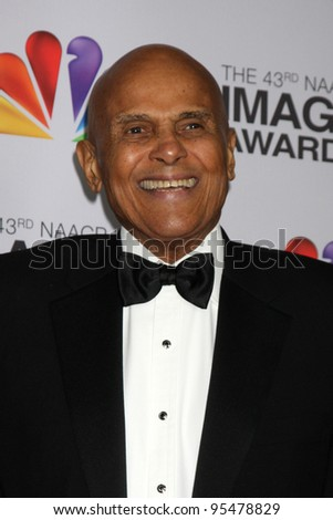 LOS ANGELES - FEB 17:  Harry Belafonte arrives at the 43rd NAACP Image Awards at the Shrine Auditorium on February 17, 2012 in Los Angeles, CA