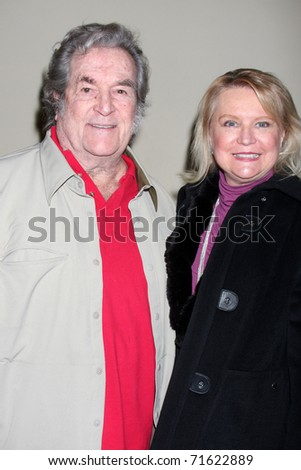 """LOS ANGELES - FEB 17:  Hugh O'Brien arrives at the Opening of """"Ethel Merman's Broadway"""" at El Portal Theater on February 17, 2011 in No. Hollywood, CA - stock photo"""