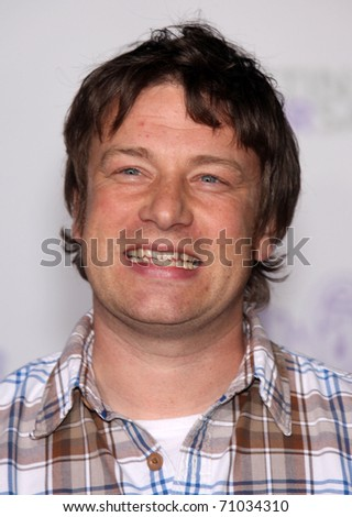 """LOS ANGELES - FEB 09:  JAMIE OLIVER arrives to the """"Justin Bieber: Never Say Never"""" Los Angeles Premiere  on February 08,2011 in Los Angeles, CA - stock photo"""