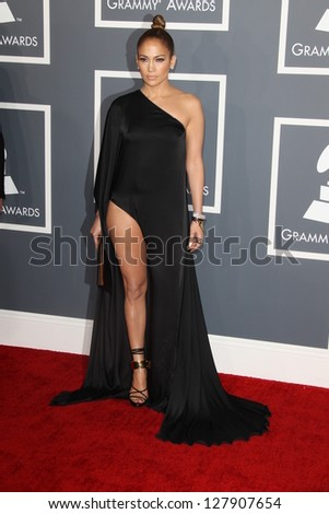 LOS ANGELES - FEB 10:  Jennifer Lopez arrives at the 55th Annual Grammy Awards at the Staples Center on February 10, 2013 in Los Angeles, CA
