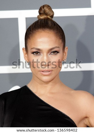 LOS ANGELES FEB 10 Jennifer Lopez arrives to the Grammy Awards 2013 on February 10 2013 in Los Angeles CA