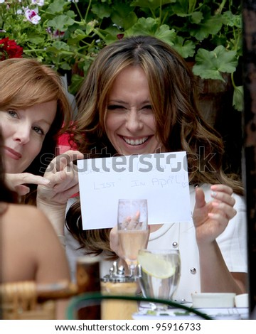 LOS ANGELES - FEB 21:  Jennifer Love Hewitt having lunch to celebrate her birthday at the Ivy Resturant on February 21, 2012 in West Hollywood, CA. - stock photo