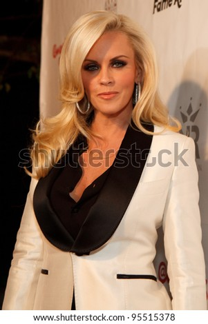"LOS ANGELES - FEB. 12: Jenny McCarthy attends the ""Fame At The Mansion"" 2012 Grammy Aterparty hosted by Sean ""Diddy"" Combs at the Playboy Mansion in Los Angeles on Feb. 12, 2012. - stock photo"