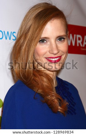 LOS ANGELES - FEB 20:  Jessica Chastain arrives at The Wrap Pre-Oscar Event at the Culina at the Four Seasons Hotel on February 20, 2013 in Los Angeles, CA