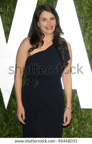 LOS ANGELES - FEB 26:  Julia Ormond arrives at the 2012 Vanity Fair Oscar Party  at the Sunset Tower on February 26, 2012 in West Hollywood, CA