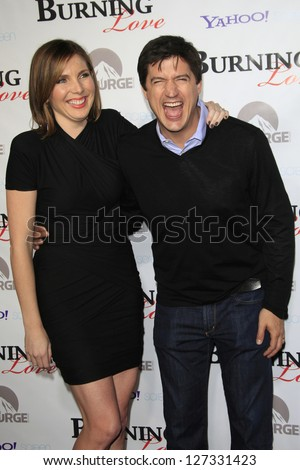 LOS ANGELES - FEB 5: June Diane Raphael, Ken Marino at the Paramount's Insurge season 2 premiere of 'Burning Love' held at Paramount Studios on February 5, 2013 in Los Angeles, California