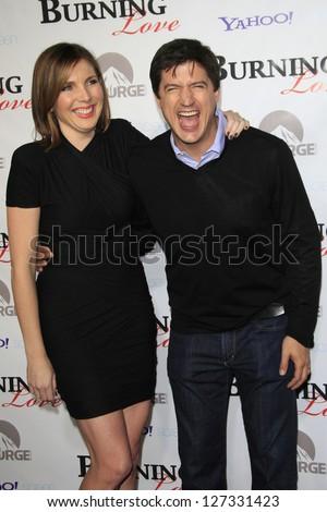 LOS ANGELES - FEB 5: June Diane Raphael, Ken Marino at the Paramount's Insurge season 2 premiere of 'Burning Love' held at Paramount Studios on February 5, 2013 in Los Angeles, California