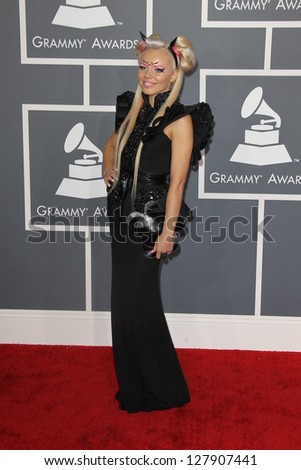 LOS ANGELES - FEB 10:  Kerli arrives at the 55th Annual Grammy Awards at the Staples Center on February 10, 2013 in Los Angeles, CA