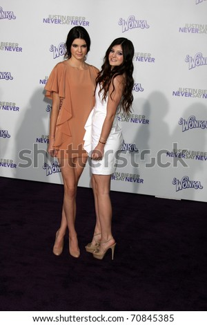 Kylie  Kendall Jenner  on Stock Photo   Los Angeles   Feb 8  Kylie Jenner  Kendall Jenner