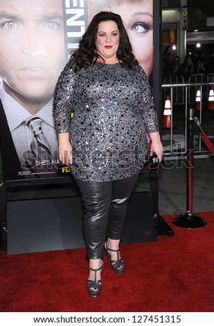 "LOS ANGELES - FEB 04:  Melissa McCarthy arrives to the ""Identity Thief"" World Premiere  on February 04, 2013 in Westwood, CA"