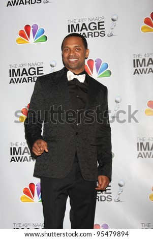 LOS ANGELES - FEB 17:  Mike Epps in the Press Room of the 43rd NAACP Image Awards at the Shrine Auditorium on February 17, 2012 in Los Angeles, CA