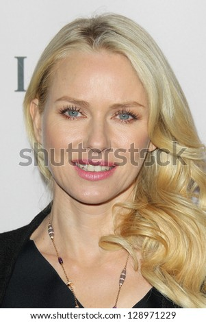 LOS ANGELES - FEB 19:  Naomi Watts arrives at the BVLGARI Celebrates Elizabeth Taylor's Jewelry Collection at the BVLGARI on February 19, 2013 in Beverly Hills, CA - stock photo