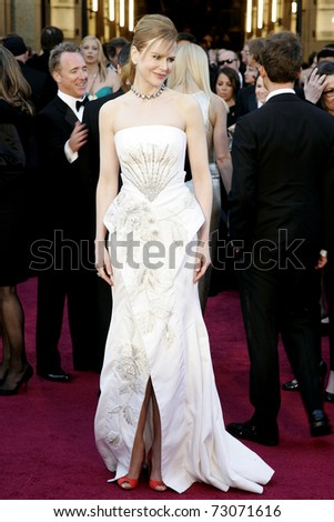 LOS ANGELES - FEB 27:  NIcole Kidman arrives at the 83rd Annual Academy Awards - Oscars at the Kodak Theater on February 27, 2011 in Los Angeles, CA.
