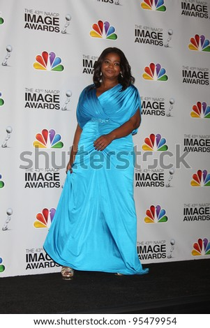 LOS ANGELES - FEB 17:  Octavia Spencer in the Press Room of the 43rd NAACP Image Awards at the Shrine Auditorium on February 17, 2012 in Los Angeles, CA