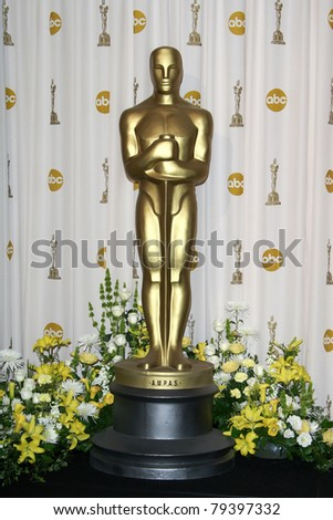 LOS ANGELES - FEB 24: Oscar statue in the press room at the Oscars held at the Kodak Theater in Los Angeles, California on February 24, 2008