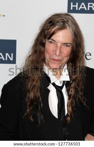 LOS ANGELES - FEB 9:  Patti Smith arrives at the Clive Davis 2013 Pre-GRAMMY Gala at the Beverly Hilton Hotel on February 9, 2013 in Beverly Hills, CA