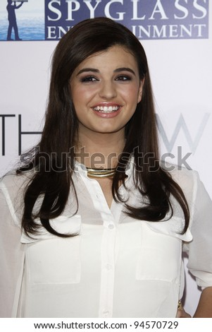 "LOS ANGELES - FEB 6:  Rebecca Black arrives at ""The Vow"" Premiere at Gramans Chinese Theater on February 6, 2012 in Los Angeles, CA"