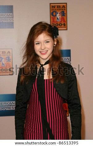 LOS ANGELES - FEB 12: Renee Olstead at the 'A Tribute to Magic Johnson - The official tip-off to NBA All-Star 2004 Entertainment' on February 12, 2004 at the Shrine Auditorium, Los Angeles, California - stock photo