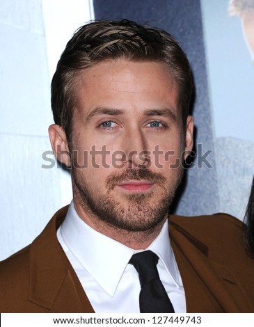 "LOS ANGELES - FEB 05:  Ryan Gosling arrives to the ""Gangster Squad"" Los Angeles Premiere  on January 07, 2013 in Hollywood, CA"