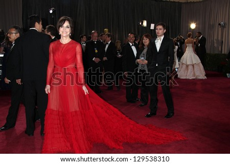 LOS ANGELES - FEB 24:  Sally FIeld arrives at the 85th Academy Awards presenting the Oscars at the Dolby Theater on February 24, 2013 in Los Angeles, CA