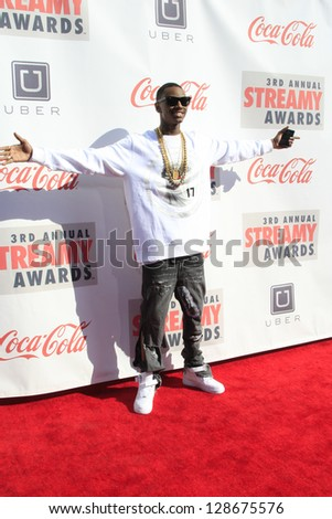 LOS ANGELES - FEB 17: Soulja Boy at the 3rd Annual Streamy Awards at the Hollywood Palladium on February 17, 2013 in Los Angeles, California