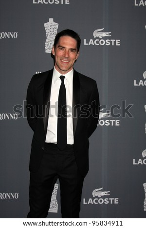 LOS ANGELES - FEB 21:  Thomas Gibson arrives at the 14th Annual Costume Designers Guild Awards at the Beverly Hilton Hotel on February 21, 2012 in Beverly Hills, CA. - stock photo