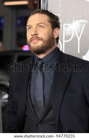 LOS ANGELES - FEB 8:  Tom Hardy arrives at the 'This Means War' Premiere at Graumans Chinese Theater on February 8, 2012 in Los Angeles, CA