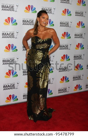 LOS ANGELES - FEB 17:  Vanessa L. Williams arrives at the 43rd NAACP Image Awards at the Shrine Auditorium on February 17, 2012 in Los Angeles, CA - stock photo