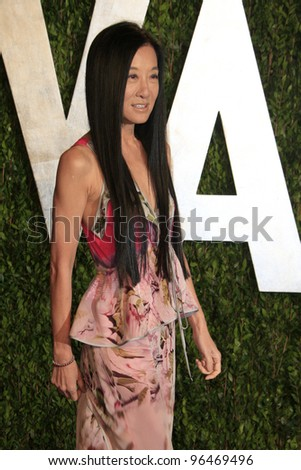 LOS ANGELES - FEB 26:  Vera Wang arrives at the 2012 Vanity Fair Oscar Party  at the Sunset Tower on February 26, 2012 in West Hollywood, CA - stock photo