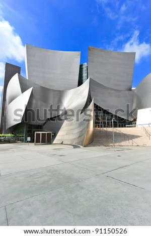 LOS ANGELES - FEB 13: Walt Disney Concert Hall on February 13, 2010 features Frank Gehry iconic architecture located in Los Angeles, CA. The concert hall houses the Los Angeles Philharmonic Orchestra