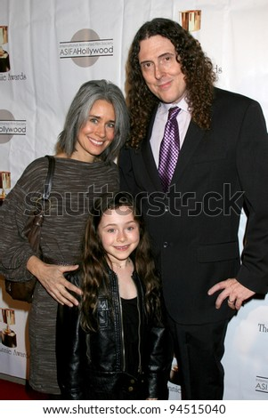 LOS ANGELES - FEB 4:  'Weird Al' Yankovic, wife, daughter arrives at the 39th Annual Annie Awards at Royce Hall at UCLA on February 4, 2012 in Westwood, CA