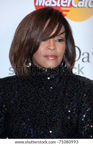 LOS ANGELES - FEB 12:  Whitney Houston arrives at the 2011 Pre-GRAMMY Gala And Salute To Industry Icons  at Beverly Hilton Hotel on February 12, 2011 in Beverly Hills, CA