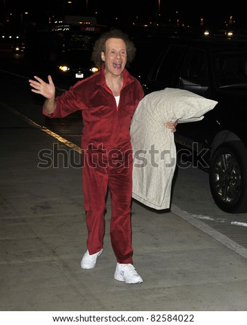 LOS ANGELES-FEBRUARY 28: Celebrity Richard Simmons at LAX airport . February 28 in Los Angeles, California 2010